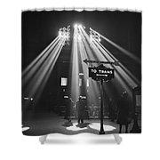 Chicago Union Train Station - 1943 Shower Curtain