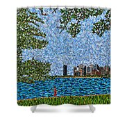 Chicago - View From Lakefront Trail Shower Curtain