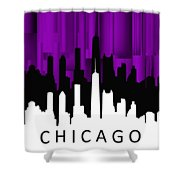 Chicago Violet Vertical  Shower Curtain