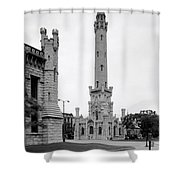 Chicago Water Tower 1933 Shower Curtain