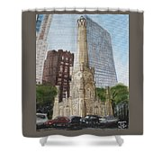 Chicago Water Tower 1b Shower Curtain