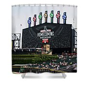 Chicago White Sox Home Coming Weekend Scoreboard Shower Curtain