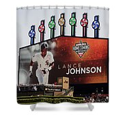 Chicago White Sox Lance Johnson Scoreboard Shower Curtain