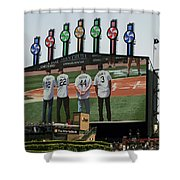 Chicago White Sox Scoreboard Thank You 12 22 44 3 Shower Curtain