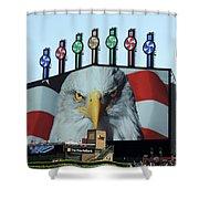 Chicago White Sox Usa Eagle Scoreboard Shower Curtain