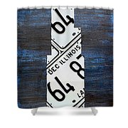 Chicago Windy City Harris Sears Tower License Plate Art Shower Curtain