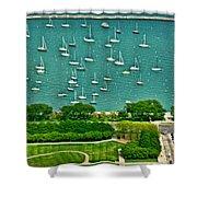 Chicago's Dusable Harbor  Shower Curtain