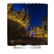 Chicago's Millenium Park At Dusk Shower Curtain
