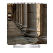 Chicagos Union Station Exterior Shower Curtain