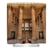 Chicagos Union Station Waiting Hall Shower Curtain