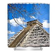 Chichen Itza And Tree Shower Curtain