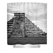 Chichen Itza B-w Shower Curtain