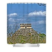 Chichen Itza Sunny Side Shower Curtain