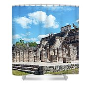 Chichen Itza Temple Of The Warriors Shower Curtain