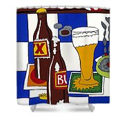 Chichis Y Cervesas Shower Curtain by Rojax Art