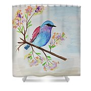 Chickadee On A Branch Shower Curtain