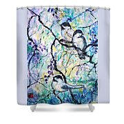Chickadees Shower Curtain