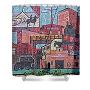 Chickasaw Ballpark Mosaic Wall Shower Curtain