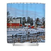 Chickasaw Winter Shower Curtain