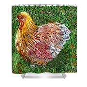 Birschen Chicken  Shower Curtain