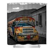 Chicken Bus - Antigua Guatemala Shower Curtain