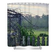 Chicken Coop Shower Curtain