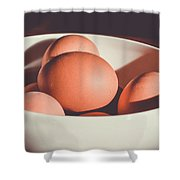 Chicken Eggs Shower Curtain