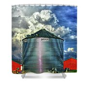 Chicken Feed Other Worldly Sky Art Shower Curtain