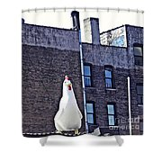 Chicken Little In Manhattan Shower Curtain