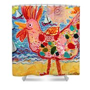 Chicken Of The Sea #2 Shower Curtain