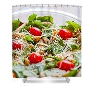 Chicken Pasta Salad Shower Curtain