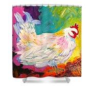 Chicken Scratch Shower Curtain