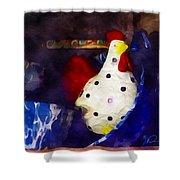 Chickens In The Kitchen Shower Curtain