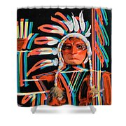 Chief Brill Yount Shower Curtain