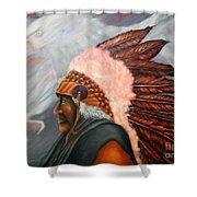 Chief Eagle Cloud Shower Curtain
