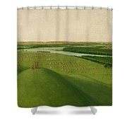 Chief Of The Plains Ojibwa Shower Curtain