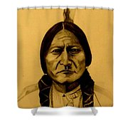 Chief Sitting Bull  Tatanka Iyotake Shower Curtain