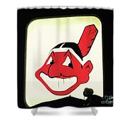 Chief Wahoo  Shower Curtain