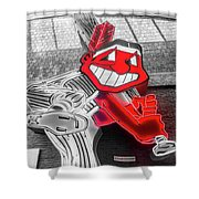 Chief Wahoo Sluggin Shower Curtain