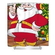 Chiefs Santa Claus Shower Curtain
