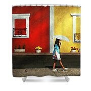 Child - A Bright Sunny Day  Shower Curtain