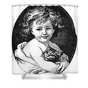 Child & Pet, 19th Century Shower Curtain