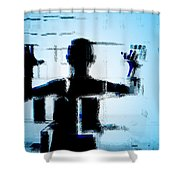 Child In A Fractured World Shower Curtain