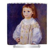 Child In A White Dress Lucie Berard 1883 Shower Curtain