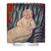 Child On A Sofa Shower Curtain by Mary Cassatt
