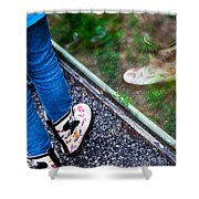 Child Reflection Shower Curtain