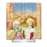 Child Shepherds Shower Curtain