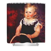 Child With A Hoop Shower Curtain