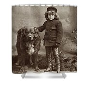 Child With Dog, C1885 Shower Curtain