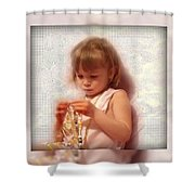 Child With Jewelry Shower Curtain